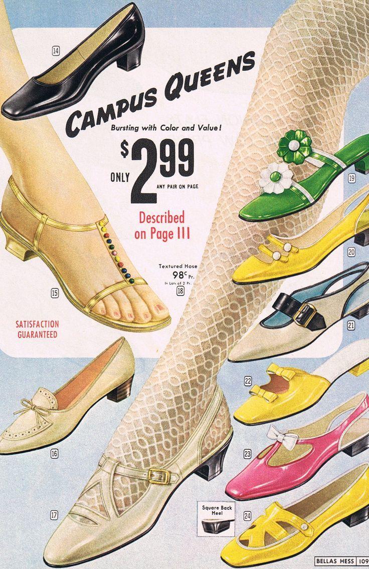 """the60sbazaar: """"1960s shoe advertisement """"                                                                                                                                                                                 More"""