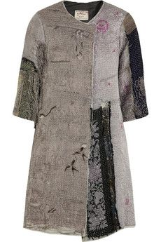 By Walid Embroidered textured-cotton coat | NET-A-PORTER