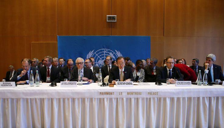 Delegados de 39 países, más Siria y cuatro organizaciones internacionales, están reunidos en Suiza, en la primera etapa de la Conferencia de Paz, cuyo objetivo es hallar una solución política al conflicto en la nación árabe. (Foto: EFE)