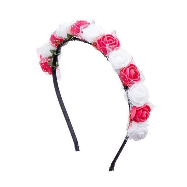 6 Colors Girls Kids Baby Flower Headband Hair Band Headwear Toddler Accessories