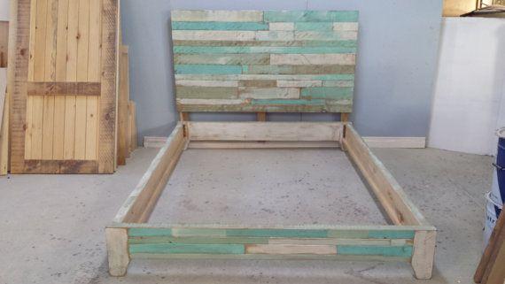 Platform bed / Queen Size Bed / Painted by HarvestTreasuresInc