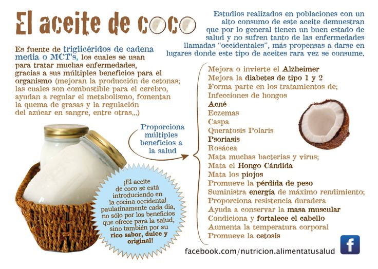 Design for nutrition page. Coconut Oil Benefits.