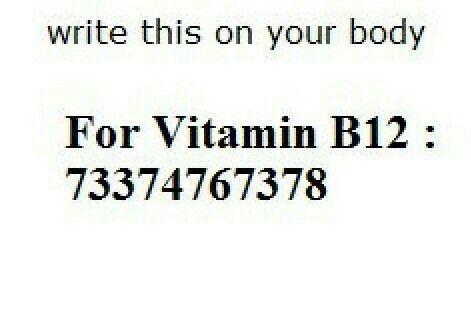 For Vitamin B12