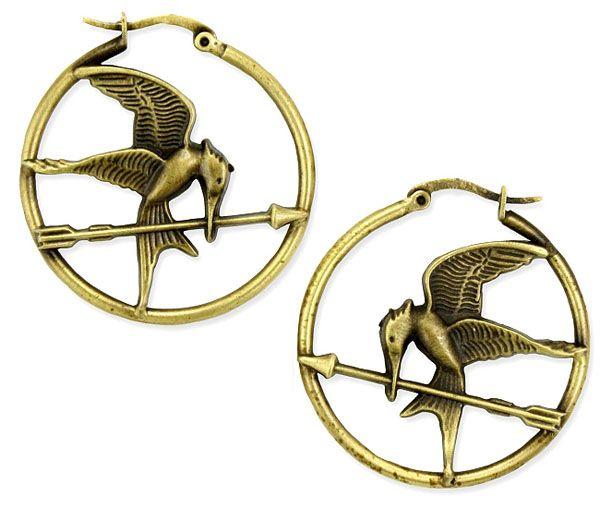 Hunger Games Mockingjay earrings :)