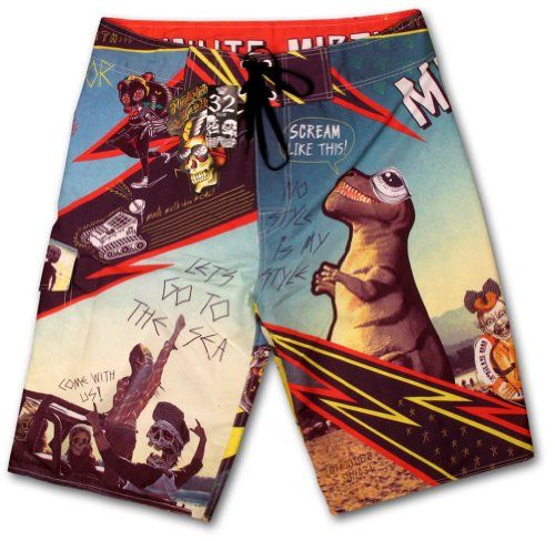 Surfing  Skateboard Summer Skull Tattoo Men's Short Surf Short Pants By Chaquetero Xxl-w38 -- This is an Amazon Associate's Pin. Find out more on Amazon website by clicking the VISIT button.
