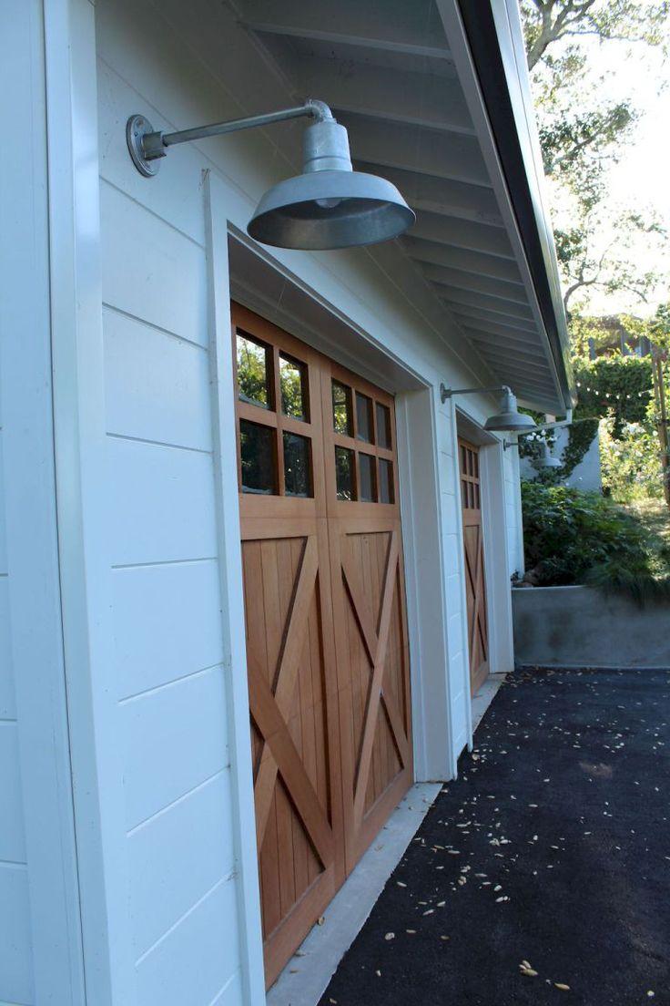 contemporary farmhouse garage doors