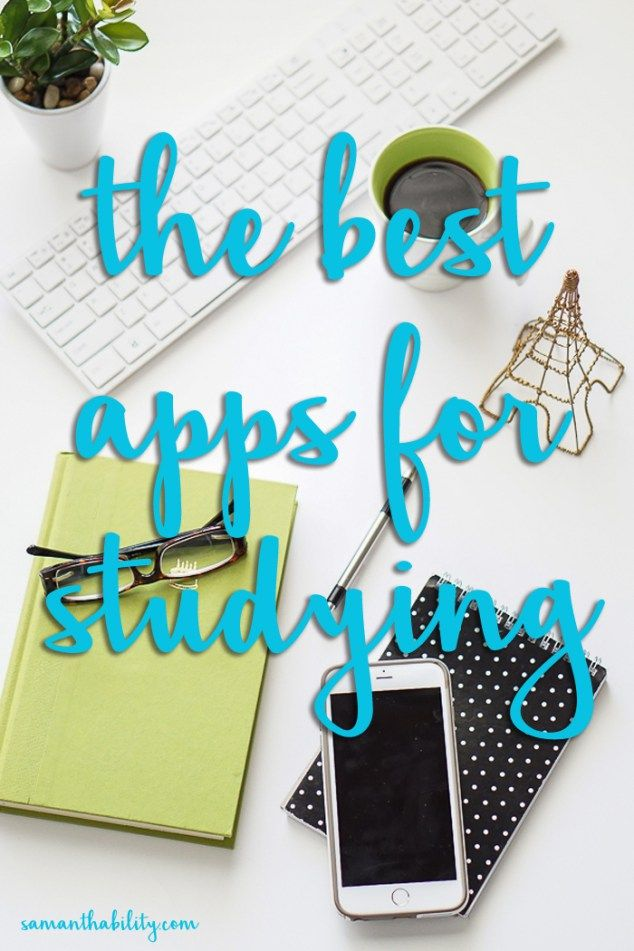 The best apps for studying - these apps are perfect for college and high school. Get good grades with these study apps!