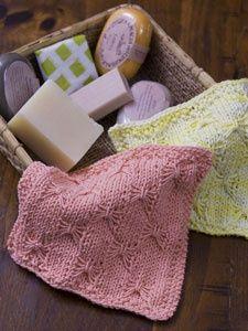 Knit Butterfly Wash Cloth WC1656 | Free Patterns | Yarn.