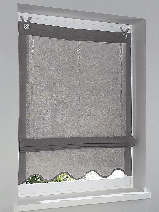 Innovative Aufhängung am Fensterrahmen ohne Stange, ohne