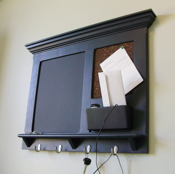 10 best chalkboard key holders images on pinterest for Wall mail organizer with cork board