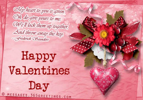 Valentines day messages for girlfriend and wife for Sweet valentine day quotes for her