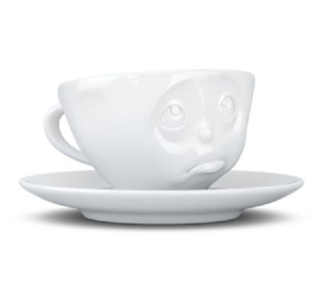 Tassen Espresso Cup, Oh Please, White - Kitchenique