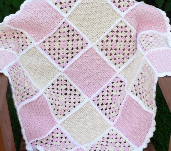 Crochet Pattern  Sweet Dreams Baby Blanket por bubblegirlknits