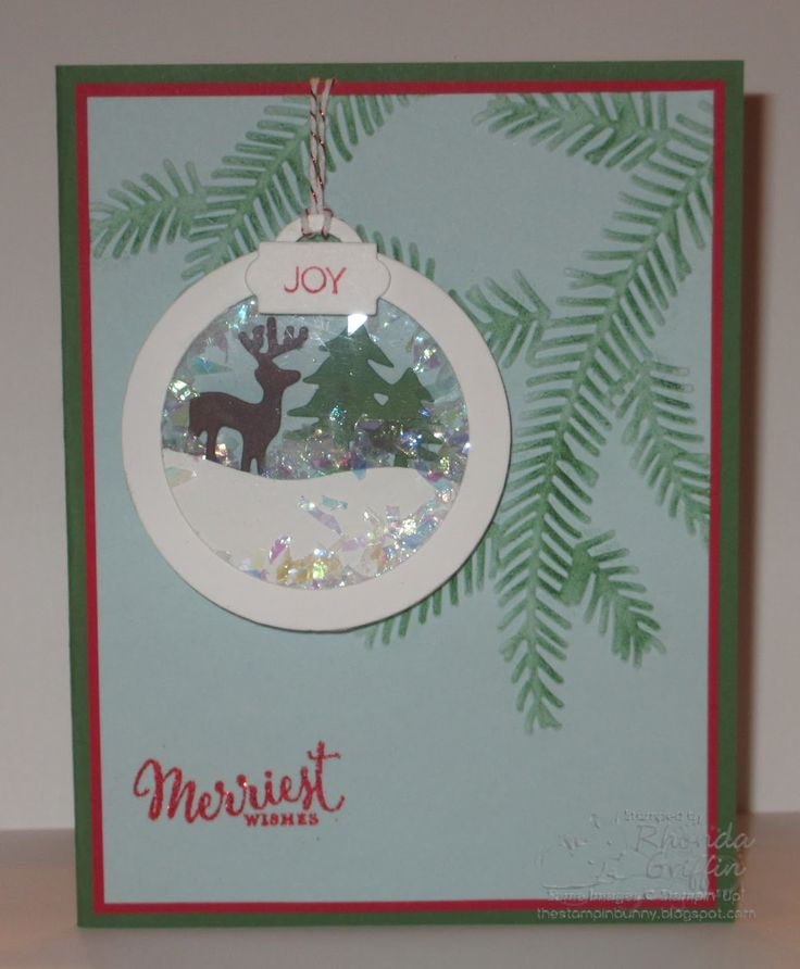 The Stampin' Bunny: Merriest Wishes Stampin' Up! Ornament shaker Card