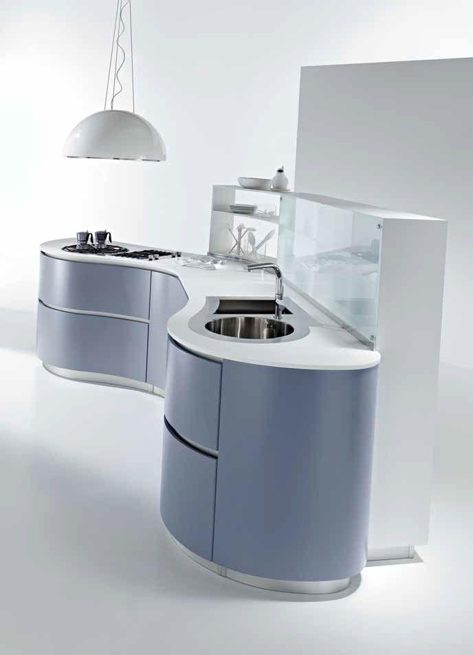 Unique Contemporary Kitchen Cabinets Designed Without Handles Part 80
