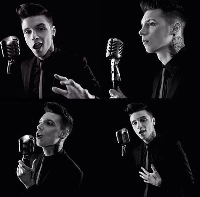 "Andy's side project, Andy Black. His first song is ""They Don't Need To Understand"", and these are shots from the music video."