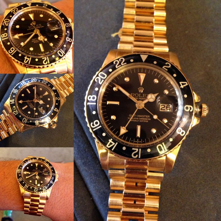 all gold GMT with presidential bracelet!