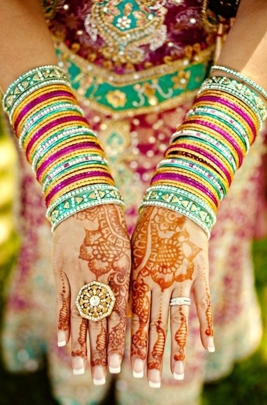 I love the henna tradition for women at Indian weddings! so cool