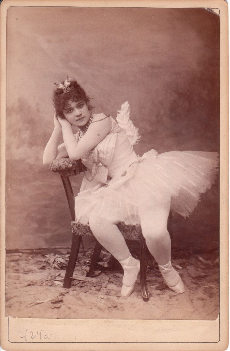 TWO RISQUE IMAGES OF A LOVELY BALLERINA PLAYING CUPID TWOSIDED CABINET CARD PHOTOGRAPH