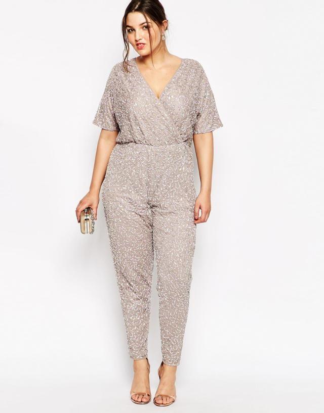 7 Versatile Summer Plus Size Jumpsuits: ASOS Curve Kimono Jumpsuit in Sequins
