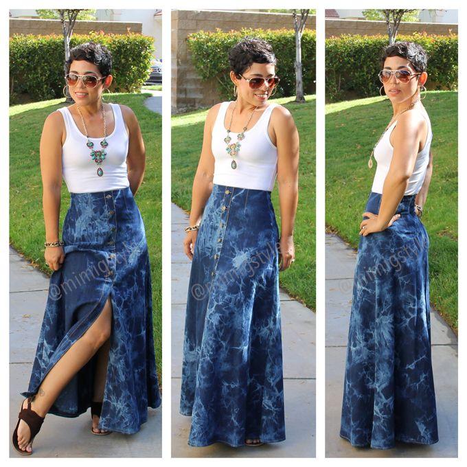 #DIY Tie Dye Maxi Skirt + Tank