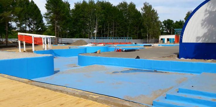 Открытый бассейн в Парке спорта Алексея Смертина!!! Outdoor Park Sports ...