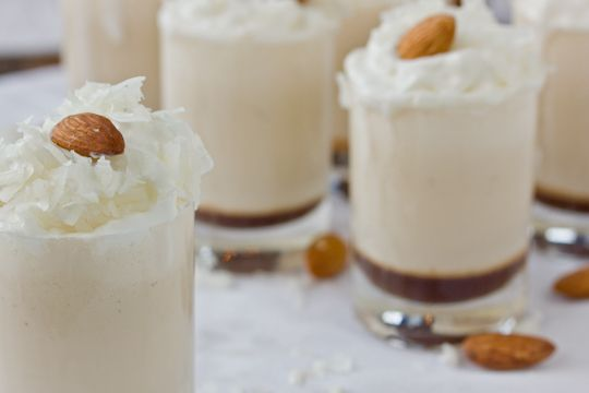 Grown-up Almond Joy Milkshakes