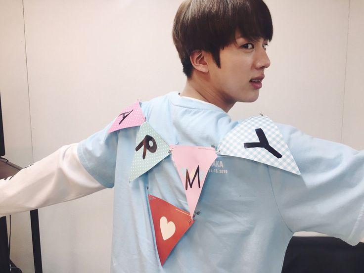 Jin ❤ [BTS Trans Tweet] 오늘의석지니 / Today's Seokjinie (cutieejinnie) #BTS #방탄소년단