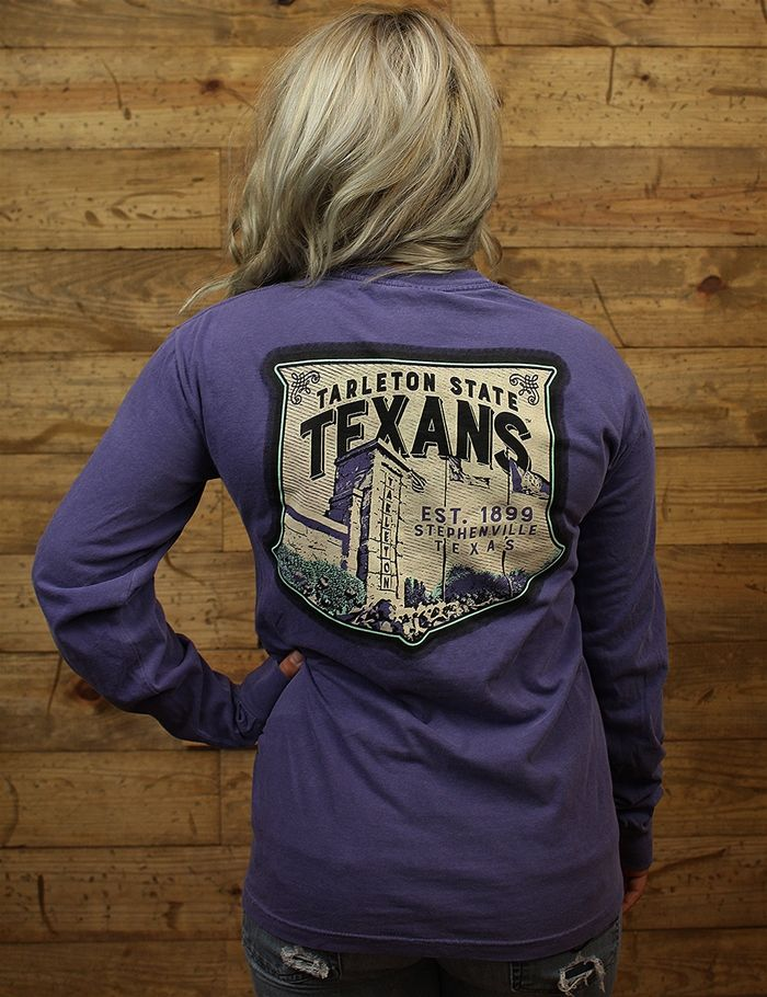 Hey Tarleton Show your Texan some love in this fan favorite comfort color tee Go TSU