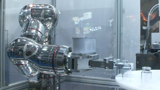 World's first all stainless steel robot with seven degrees of freedom. http://robohub.org/worlds-first-all-stainless-steel-robot-with-seven-degrees-of-freedom/