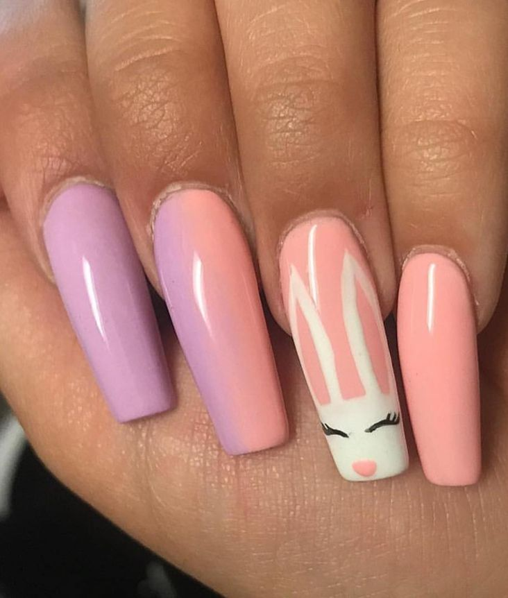 40 Cute Colorful Easter Nail Art Designs You Need To Try Asap In 2020 Bunny Nails Easter Nail Art Designs Easter Nails