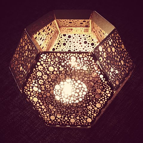 Tom Dixon Etch candleholder in copper #copper #geometrical #hexagon #interior