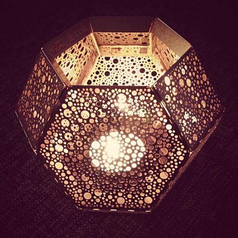 Tom Dixon Etch candleholder in copper #copper #geometrical #hexagon #interior