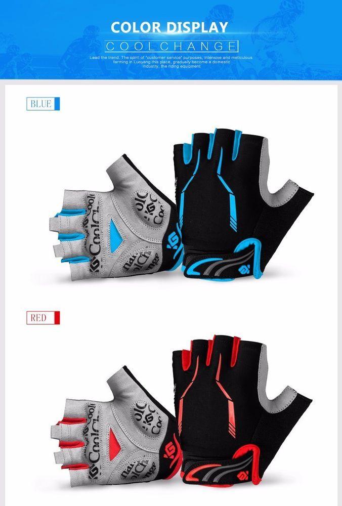 CoolChange Cycling Gloves Half Finger Mens Women39s Summer Sports Shockproof #CoolChange
