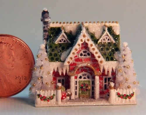 Christmas Miniature Glitter Houses