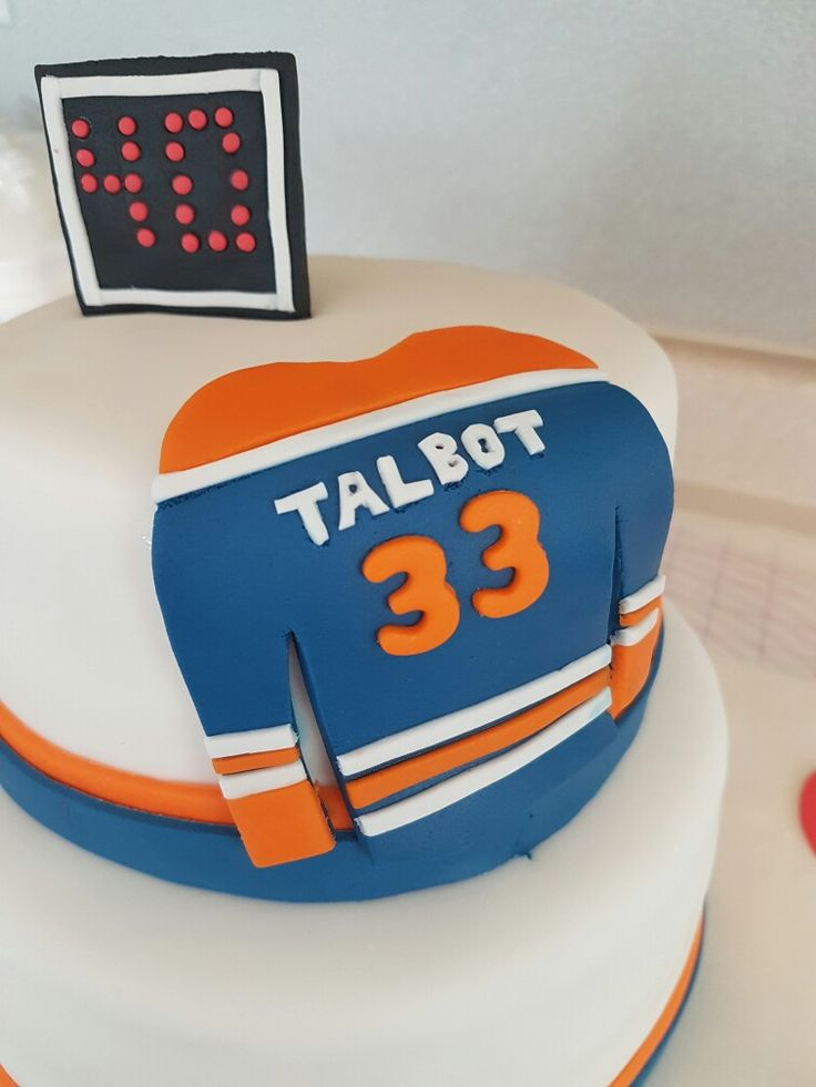 10 best Oilers cake images on Pinterest Birthday cake Anniversary