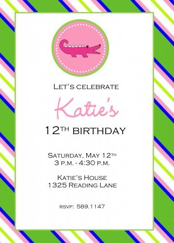 invitations for teenage girl birthday party