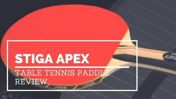 Stiga Apex Table Tennis Paddle Review