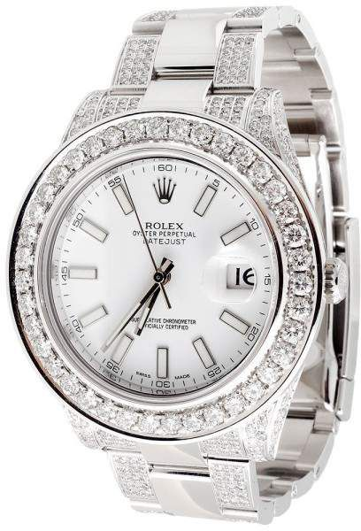 Rolex Datejust II 116333 Stainless Steel with 9.06ct Diamond Automatic 41mm Mens Watch