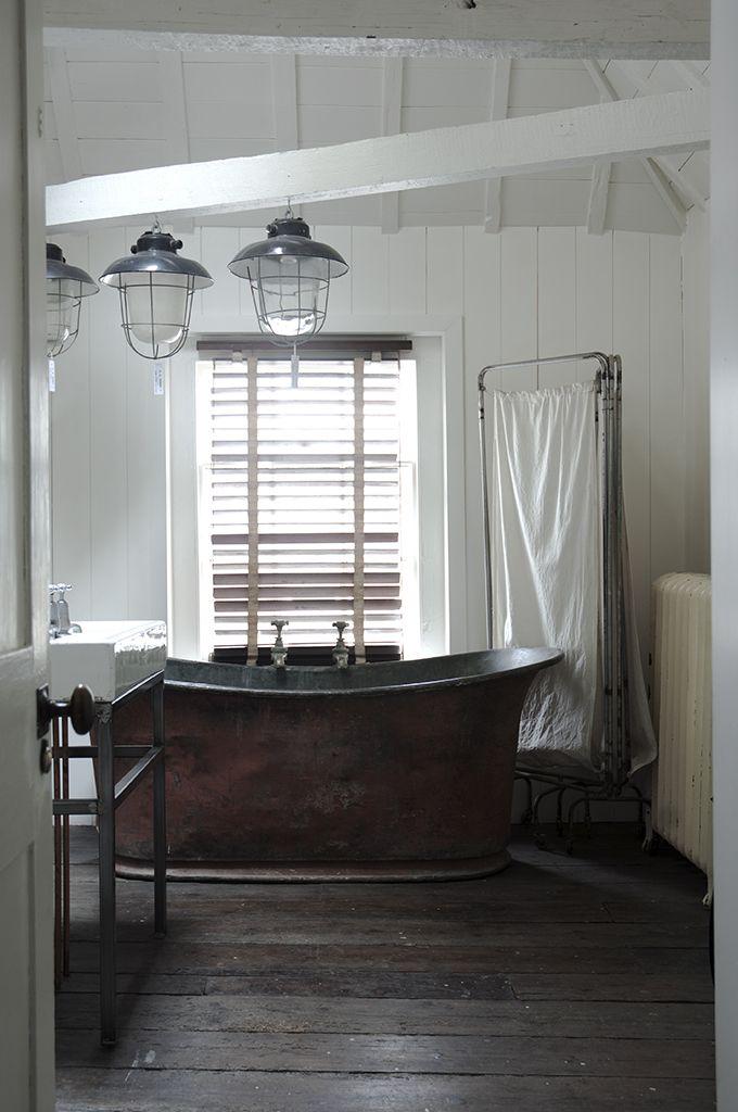 love a good wood floor bathroom//Alastair Hendy's shop, Home Store Hastings in Hastings, East Sussex.