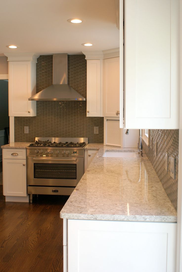 White Diamond Kitchen With New Quay Quartz Countertops 4