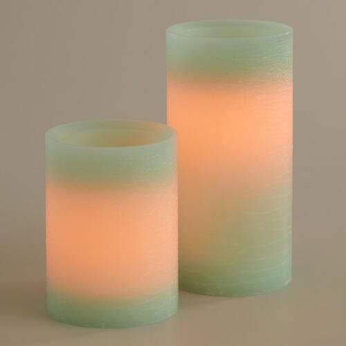 One of my favorite discoveries at WorldMarket.com: Rustic Aqua Flameless LED Candle