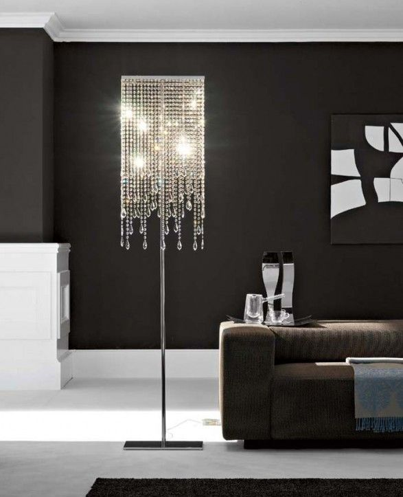 lighting bright and elegant modern floor lamp cheap that look so approrpiate to design and decorate your room with sofa and glass and bottles with black
