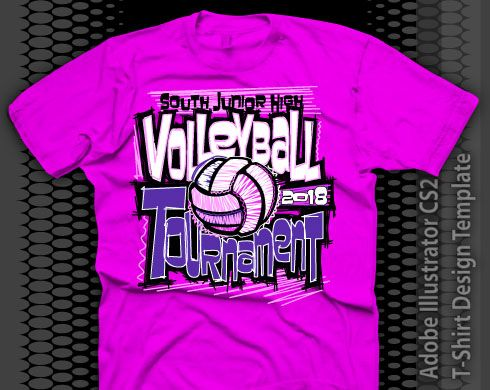 Cool Volleyball Designs Pink Volleyball Shirt Design