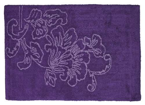 Botanica Purple Bathroom Rug