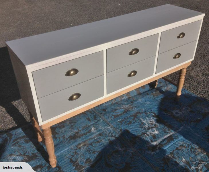 Modern polish furniture by flux boutique  This was a long lowboy, All solid Pine with dovetailed Joints, and mahogany drawer Fronts, i have Added Solid Tawa Tur...