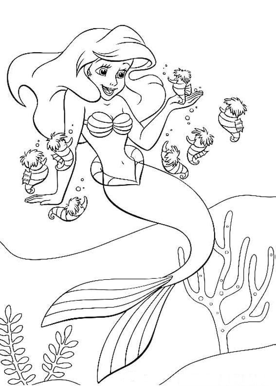 Little Mermaid Coloring Pages Free Printable