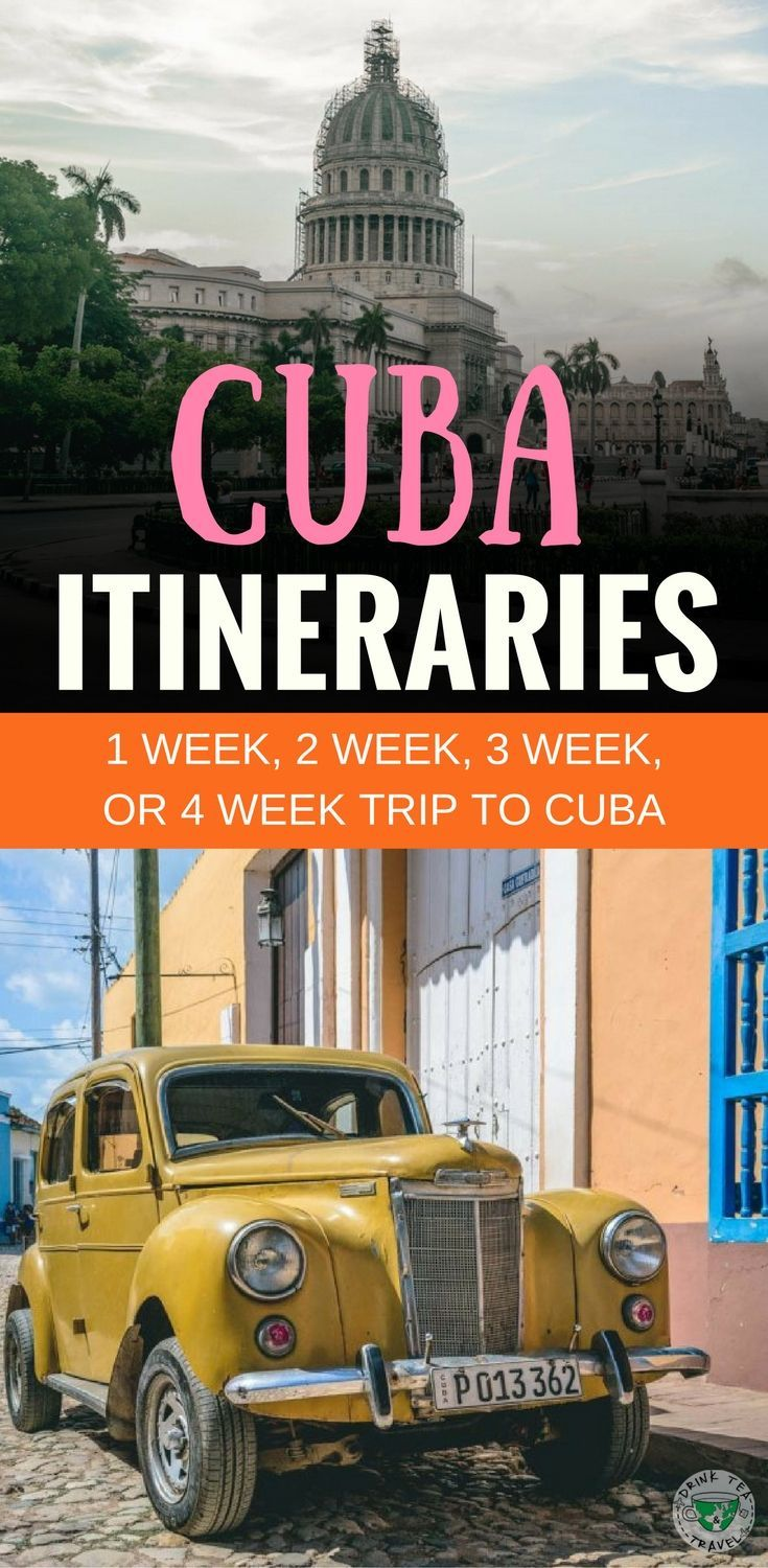 A travel guide to Cuba. what to do in Cuba, 1, 2, 3 and 4-week itinerary to Cuba including visits to Havana, Varadero, and Trinidad. Everything you need to know about your vacation to Cuba, Cuban culture, food, beaches and other things to do.