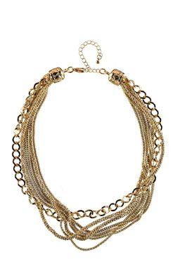 Hannah Multi Chain Necklace at boohoo.com #DRESSMAS