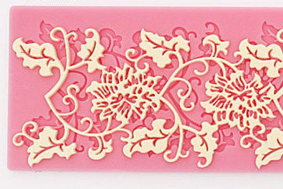 Silicone Lace Fondant Cake Decoration. Chocolate by arksupplies